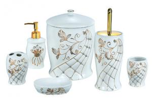 6PCS Ceramic Bathroom-ware Set