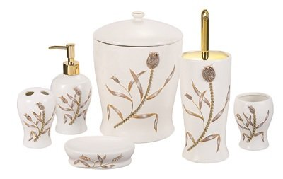6PCS Tulip Ceramic Bathroom Set